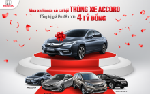 Mua Xe Honda Ô Tô Trúng Xe Honda Accord,Phần Thưởng Lên Tới 4 Tỷ Đồng