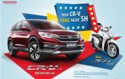 Mua Xe Honda CRV Tháng 9-2017 Được Tặng Ngay Honda SH